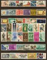 U.S. 1962 THROUGH 1964 -- 3 YEARS OF COMMEMORATIVE STAMP YEAR SETS MNH