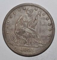 1842 SEATED LIBERTY HALF DOLLAR