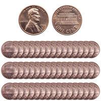 1971 S LINCOLN MEMORIAL CENT BU ROLL 50 US COIN LOT