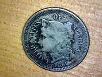1865 3 CENT COPPER NICKEL NICE COIN