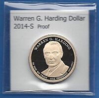 2014 S PROOF WARREN G. HARDING DOLLAR