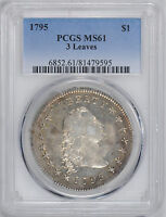 1795 FLOWING HAIR S$1 PCGS MINT STATE 61