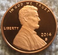 2014 S PROOF LINCOLN CENT DCAM FROM U.S. MINT SET WOW CHEEP PRICE