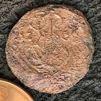 DENGA 1766 OLD RUSSIAN IMPERIAL COIN. ORIGINAL  . EKATERINA 1762 96