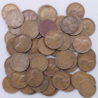 1948 D LINCOLN WHEAT CENT ROLL 50 CIRCULATED PENNIES US COINS