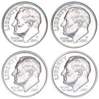 2005 P D S S ROOSEVELT DIME YEAR SET SILVER & CLAD PROOF & BU US 4 COIN LOT