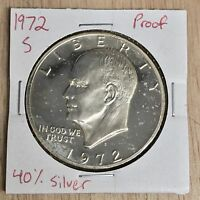 1972 S PROOF/40 SILVER EISENHOWER DOLLAR LOTW 087