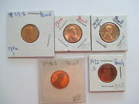 1970  1972 1974  1978 1979 S LINCOLN CENT PENNY PROOFS
