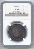 1812 CAPPED BUST HALF DOLLAR NGC VF 30