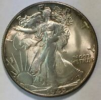 1940 S WALKING LIBERTY HALF DOLLAR    ORIGINAL GEM  WITH  CRACKS AND A CUD