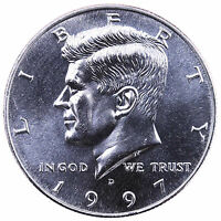 1997 D KENNEDY HALF DOLLAR CHOICE BU CN CLAD US COIN