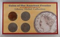1902 1903 1904 1911 AMERICAN FRONTIER LIBERTY V NICKEL COLLECTION 4 COINS. 512
