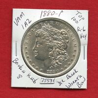 1880 VAM 1A2 TOP 100 R6 BU UNC MORGAN SILVER DOLLAR 75531 MS MINT  ESTATE