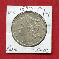 1880 BU UNC MORGAN SILVER DOLLAR 65400 MS COIN US MINT  KEY DATE ESTATE