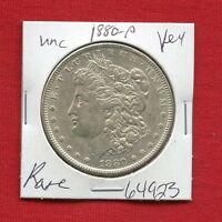 1880 BU UNC MORGAN SILVER DOLLAR 64923 MS COIN US MINT  KEY DATE ESTATE