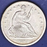 1864 S SEATED LIBERTY 50C NICE COIN; TAKE A LOOK; FILL THAT HOLE; ; AU