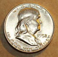 1952 D FRANKLIN HALF   BU   BRILLIANT UNCIRCULATED
