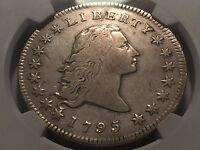1795 EARLY FLOWING HAIR SILVER DOLLAR  NGC  FINE