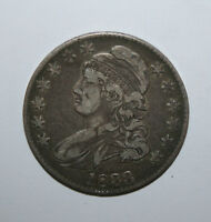 1833 CAPPED BUST SILVER HALF   E15