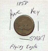 1858 FLYING EAGLE 1C PENNY 57927 $  COIN $ US MINT  KEY DATE ESTATE