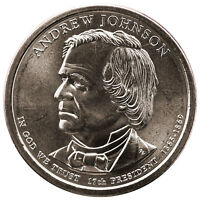 2011 D PRESIDENTIAL DOLLAR ANDREW JOHNSON BU CLAD US COIN