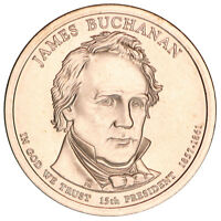 2010 D PRESIDENTIAL DOLLAR JAMES BUCHANAN SATIN FINISH