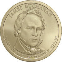 2010 P PRESIDENTIAL DOLLAR JAMES BUCHANAN SATIN FINISH