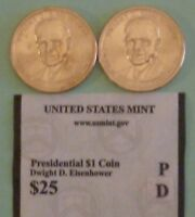 2015  D & P DWIGHT D EISENHOWER US PRESIDENTIAL DOLLAR COINS SET UNCIRCULATED