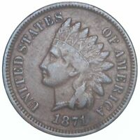 1871 INDIAN HEAD CENT FINE PENNY FN