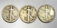 WALKING LIBERTY HALVES 1933-S 1934-S 1940-S F TO VF AD45
