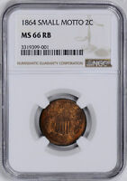 1864 2C NGC MINT STATE 66 RB