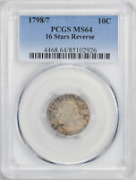 1798/97 DRAPED BUST 10C PCGS MINT STATE 64