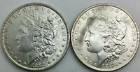 1882 1883 O NEW ORLEANS MORGAN SILVER DOLLAR PAIR OF SHARP  LUSTROUS COINS