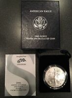 2006 W BURNISHED US MINT SILVER EAGLE INAUGURAL ISSUE Z6F