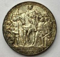 GERMANY PRUSSIA 1913 3  MARK SILVER TONED  CARTWHEEL LUSTRE DEFEAT NAPOLEAN