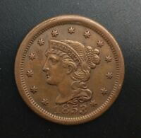 1853  LARGE CENT  PLEASING ORIGINAL COIN NICE COLOUR TYPE COIN
