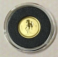 AUSTRALIA 1/20 OUNCE GOLD LUNAR HORSE WORLD OF GOLD COINS PASSPORT