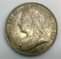 1893 LVI VICTORIA OLD HEAD SILVER CROWN LUSTROUS NICE EXAMPLE