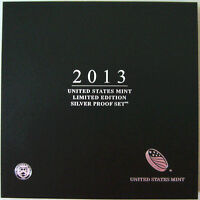 2013 US MINT LIMITED EDITION SILVER PROOF SET 8 COINS