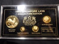 SINGAPORE 1993 LUNAR YEAR OF THE ROOSTER 0.20 0.10 0.25 OZ G