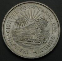 MEXICO 5 PESOS 1950   SILVER   OPENING OF SOUTHERN RAILROAD