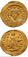 BYZANTINE GOLD SOLIDUS COIN PHOCAS CONSTANTINOPLE 602 110 AD