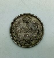CANADA 1911 TYPE COIN   5 CENTS  NICE COLLECTOR COIN
