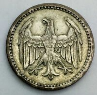 1924  A  GERMANY 3 REICHSMARK   SILVER  NICE MID GRADE WEIMAR REPUBLIC