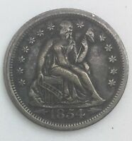 1854 O  SEATED LIBERTY DIME NEW ORLEANS  MID GRADE COIN