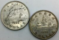 CANADA 1935  FIRST ISSUE  SILVER DOLLARS PAIR OF  BETTER COLLECTORS COIN