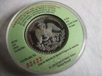 MEXICO LIBERTAD ANO 2000 DC MILLENNIUM WINGED VICTORY SILVER PROOF MINT ISSUE