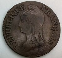 FRANCE 1799/00 AA LAN 8 CINQ CENTIMES   NICE  COIN 5 CENTIMES