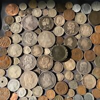 100 EUROPEAN SILVER COPPER NICKEL AND ALUMINUM WORLD COINS