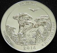 2016 5 OZ SILVER ATB SHAWNEE NATIONAL FOREST IL  AMERICA THE BEAUTIFUL